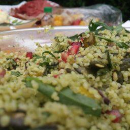 Das ist der Couscous-Salat.